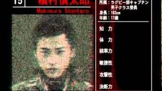映画『バトル・ロワイアルⅡ』 キャラクターデータ2