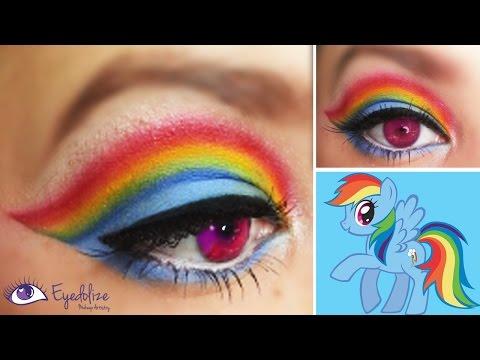 Rainbow Dash My Little Pony Inspired Makeup Eyeshadow Tutorial by EyedolizeMakeup