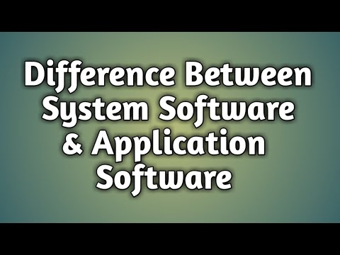 Difference Between System Software And Application Software In Hindi