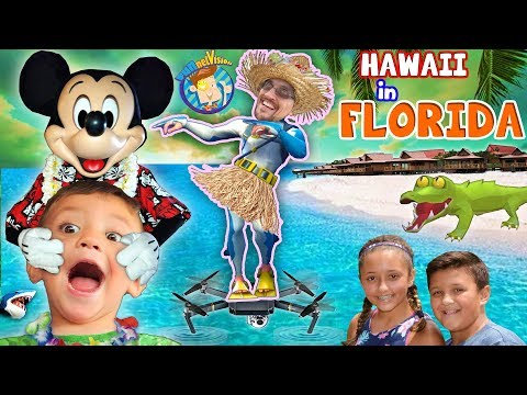 HAWAII in FLORIDA! Disney's Polynesian Resort Hotel! FUNnel Family Learns to Hula vlog