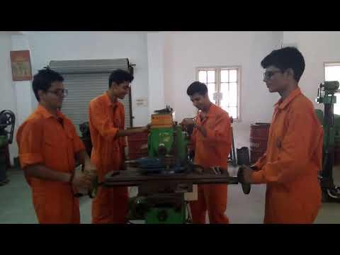 RLINS: workshop shaping machine, marine engineers enjoying the work.