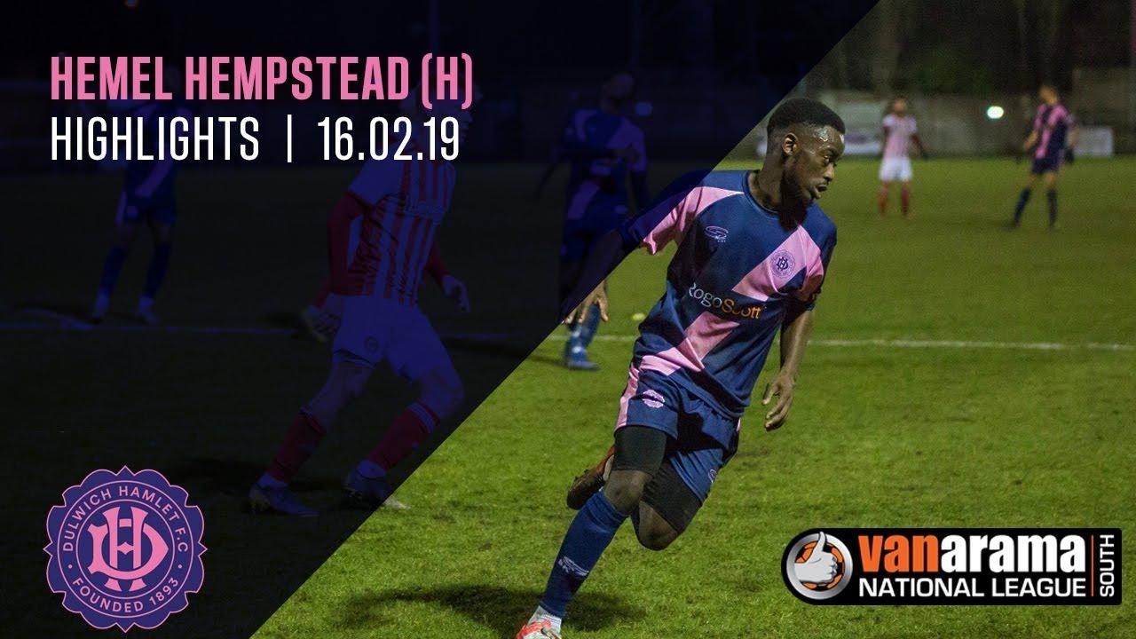 Dulwich Hamlet v Hemel Hempstead Town, National League South, 16/02/19 | Match Highlights