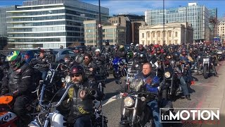 The Hells Angels lead thousands of bikers through London Streets | Harley Davidson Chopper Bikes