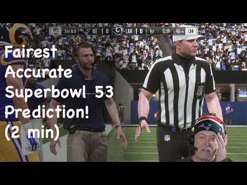 FAIREST Superbowl 53 Prediction (2 min) - Jim Cutler