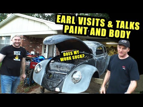 Earl Visits - Body/Paint Evaluation - ROTTEN OLD 1956 VW Beetle - 102