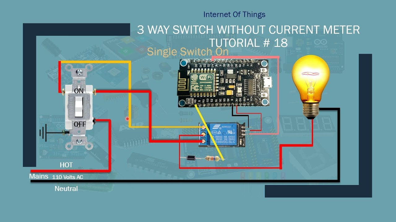 Iot 3way Switch Without Current Meter Auto Calibrating Alexa 3 Way For Dummies Nodemcu Tutorial 18