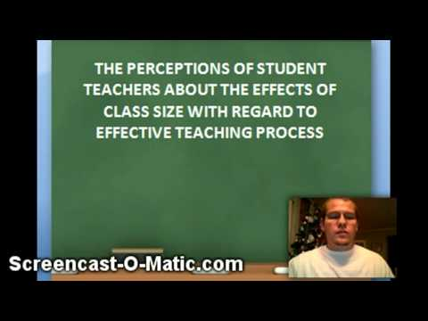 Effects of Class Size on Student Achievement