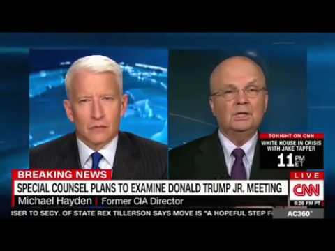 Anderson Cooper interviews Michael Hayden fmr CIA & NSA Director on Don Jr Russia emails