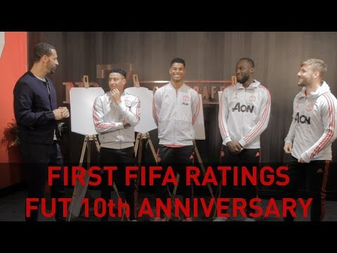 FIFA RATINGS w/ Lingard, Lukaku, Rashford & Shaw! FUT 10th Birthday Special