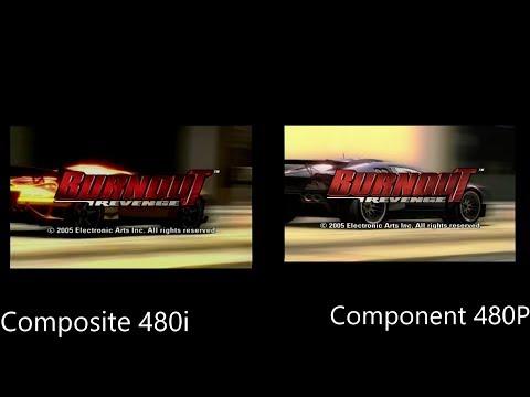 Burnout Revenge 480i Composite vs 480P Component