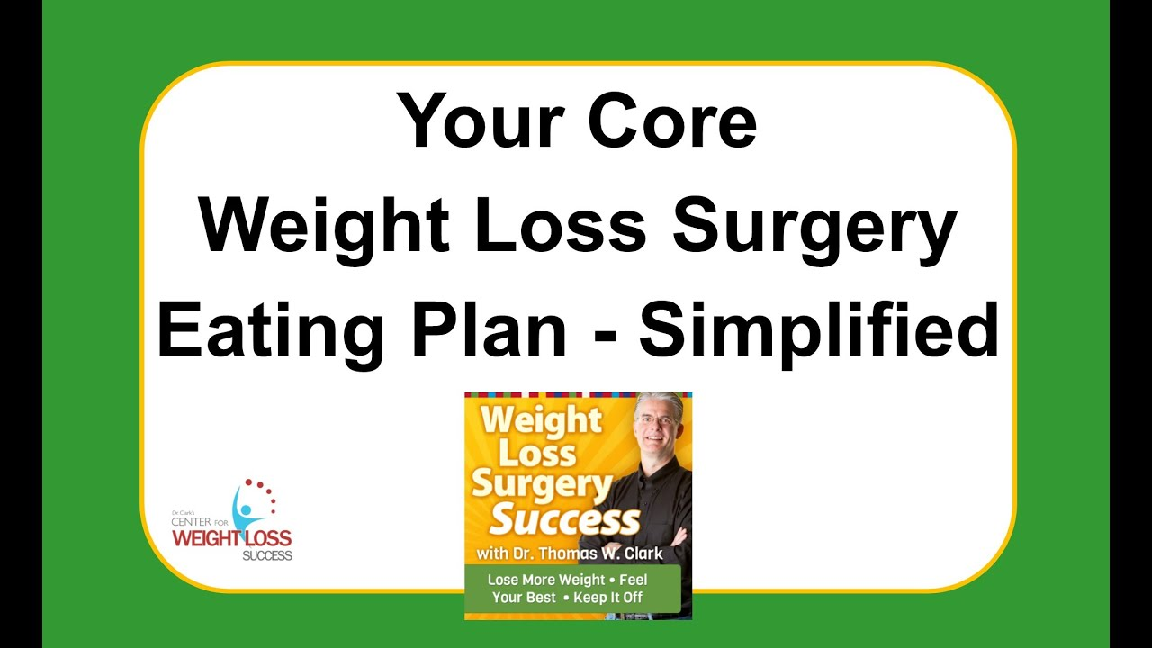 Weight Loss Surgery Success Your Core Eating Plan ...