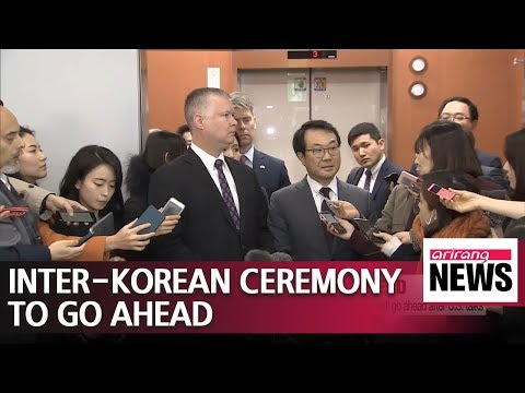South Korea and U.S. agree to proceed with groundbreaking ceremony for inter-Korean railway project