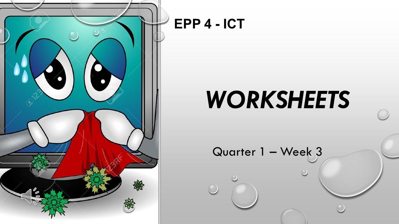 hight resolution of EPP 4 - ICT - WORKSHEET - Quarter 1 Week 3 (MELC) - YouTube