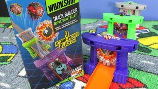 Hot Wheels Track Builder Triple Blast Alley Review By RaceGrooves