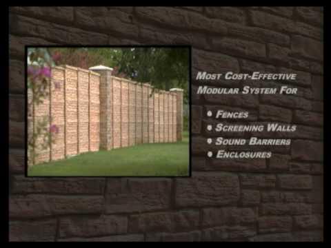 Decorative Precast Concrete Fences, Screening Walls, and Sound Barriers
