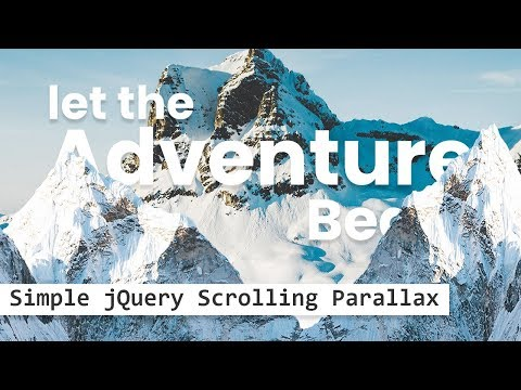 Parallax Scrolling Effects | Html CSS & JQuery