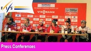 Press Conference Ramsau am Dachstein, Team Sprint