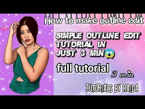 Make Outline edit in just 3 minute. How to make outline edit. Easy outline edit tutorial.