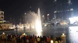 The Dubai Mall: Dancing Fountain - The Prayer