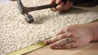 How to Install Hardwood to Carpet Transition Pieces : Carpet Installation & Maintenance