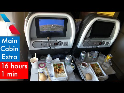 AA's LONGEST FLIGHT | AMERICAN Airlines B777-300ER ECONOMY Class: AA125 Dallas To Hong Kong