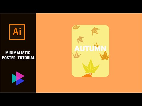 Minimalistic poster using #Adobe #illustrator - TUTORIAL thumbnail