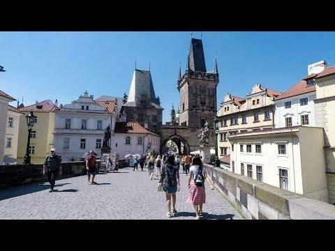 Prague. Walk from the Astronomical Clock To Charles Bridge. Czech Republic