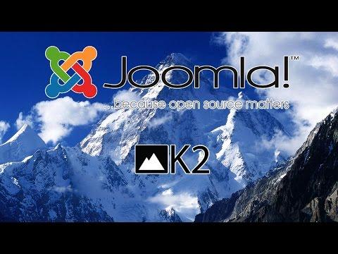 Уроки по K2 Joomla  Вставка видео, вложений и настройка автора. Урок 5