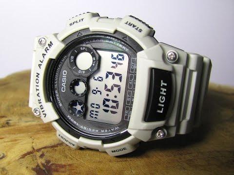 Casio W-735H-8A2V Vibration Alarm Light Grey Watch