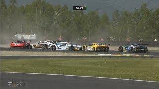 ADAC GT Masters 2018. Race 1 Autodrom Most. Start Pile Up