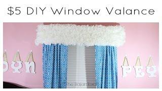 DIY Coffee Filter Window Valance $5 Dollar Store Challenge