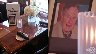 Pres. George HW Bush's favorite restaurant leaves table open for him
