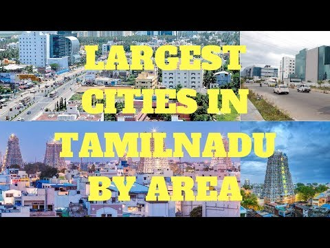 Top 10  largest cities in Tamilnadu by Area