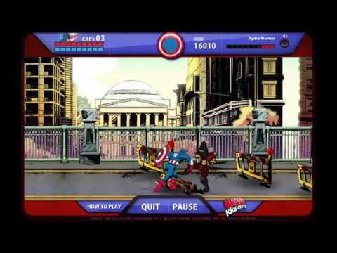 Captain America: Red Skull and Crossbones Super Heroes Games 4 Kids