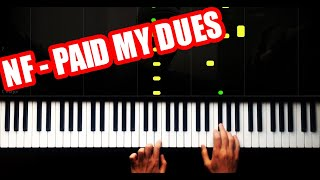 NF - PAID MY DUES - EASY - PIANO TUTORIAL