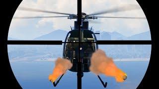 SNIPE THE ROCKET HELICOPTERS! (GTA 5 Funny Moments)
