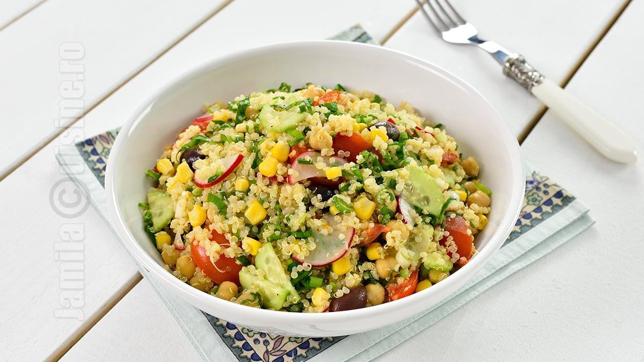 Salata de quinoa cu leurda | Quinoa Salad (CC Eng Sub) | JamilaCuisine