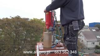 Frezowanie komina techniką diamentową ALT-PRO