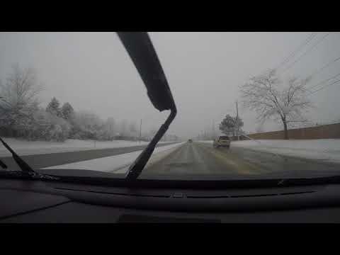 Driving around Waterloo Kitchener Winter 2017