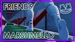 Playing FRIENDS By Marshmello On The Fortnite Music Blocks