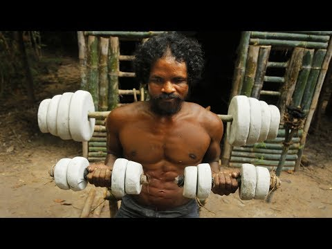 Caveman Created Ancient Gym Workout Tools By Primitive Skills