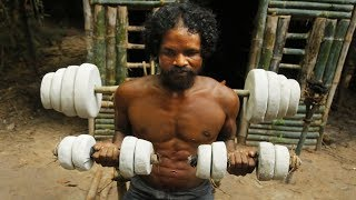 Caveman Created Ancient Gym Workout Tools By Primitive Skills thumbnail