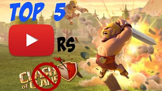 Clash of Clans - TOP 5 CoC YouTubers That Stopped Uploading Clash of Clans Videos!