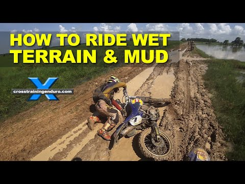 HOW TO RIDE IN WET TERRAIN & MUD: Cross Training Enduro Skills