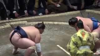 20140914 大相撲秋場所初日 照の富士vs琴将菊.