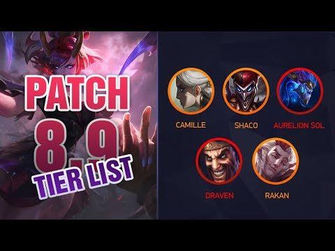 League of Legends Mobalytics Patch 8 9 Tier List : LightTube