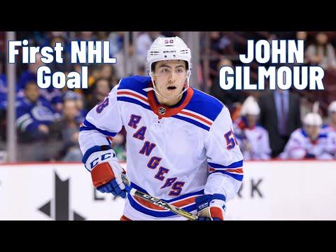 John Gilmour #58 (New York Rangers) first NHL goal 13.02.2018