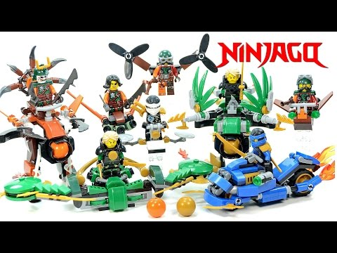 Ninjago Super Glider & Power Cycle V Sky Pirate Battle Mech Models & Jet Pack Unofficial LEGO Set