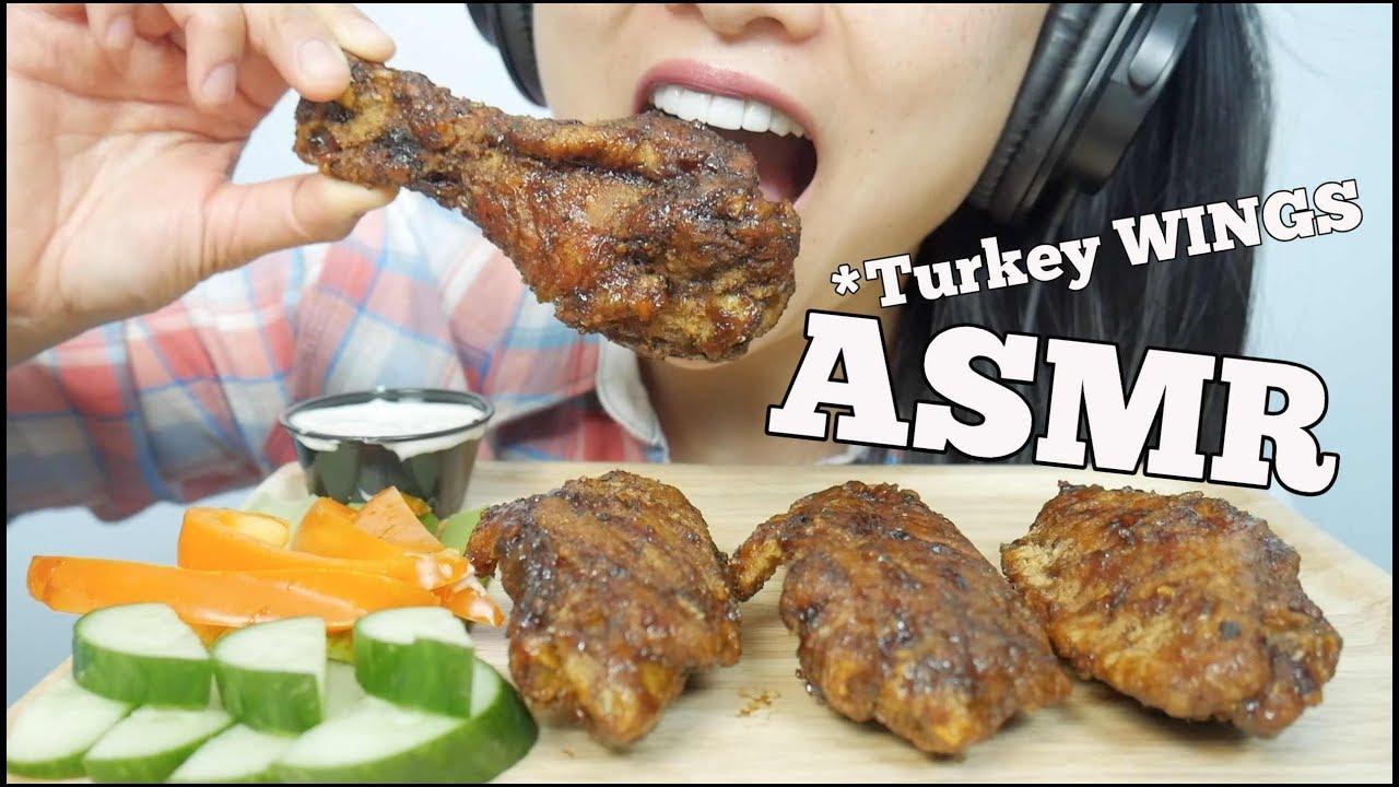 Asmr Turkey Wings Crispy Eating Sounds Sas Asmr