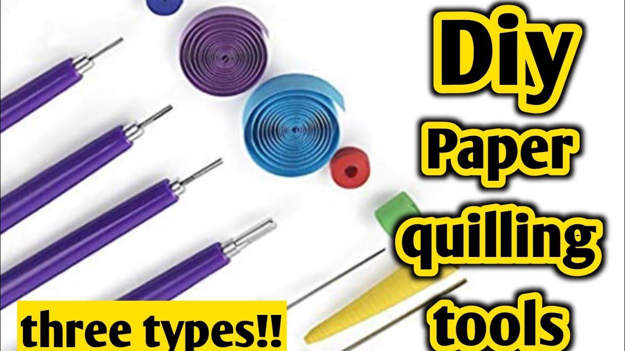 Diy Homemade paper quilling tool|Diy paper quilling tool|Paper quilling tool easy diy|paper quilling